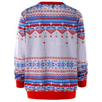 Sweat-shirt imprimé joyeux Noël - multicolore L
