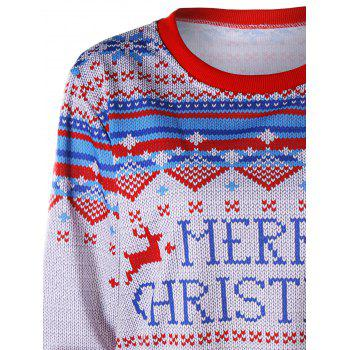 Merry Christmas Printed Sweatshirt - COLORMIX XL