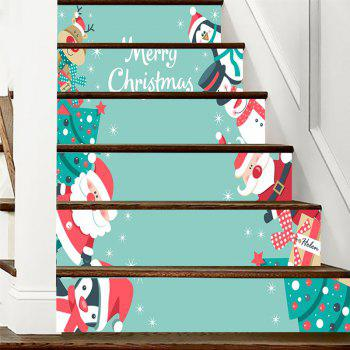 Christmas Theme Printed Stair Stickers - COLORMIX 100*18CM*6PCS