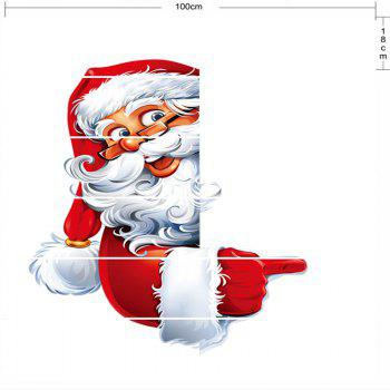 Santa Claus Pattern Christmas Decor Stair Stickers - RED/WHITE 100*18CM*6PCS