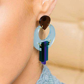 Multideck Acrylic Stud Drop Earrings - BLUE