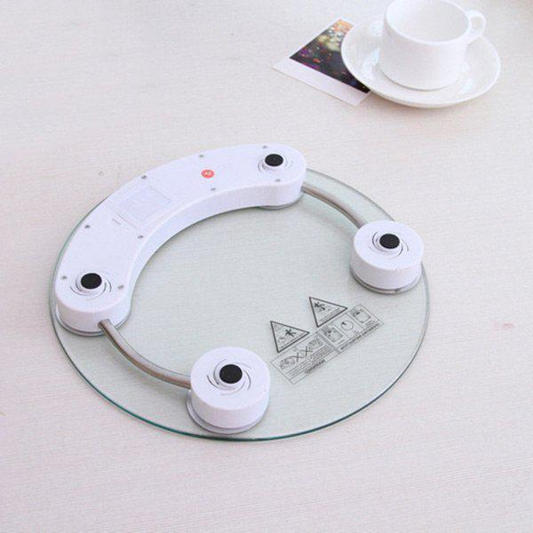 Transparent Glass Digital Weight Scale - WHITE
