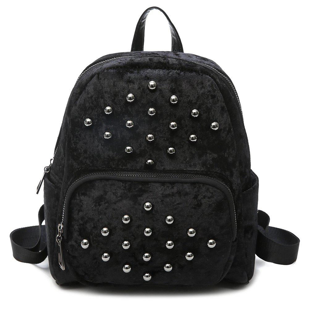 Multi Function Rivets Backpack - BLACK