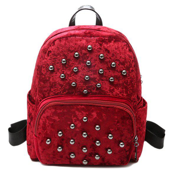 Multi Function Rivets Backpack - RED