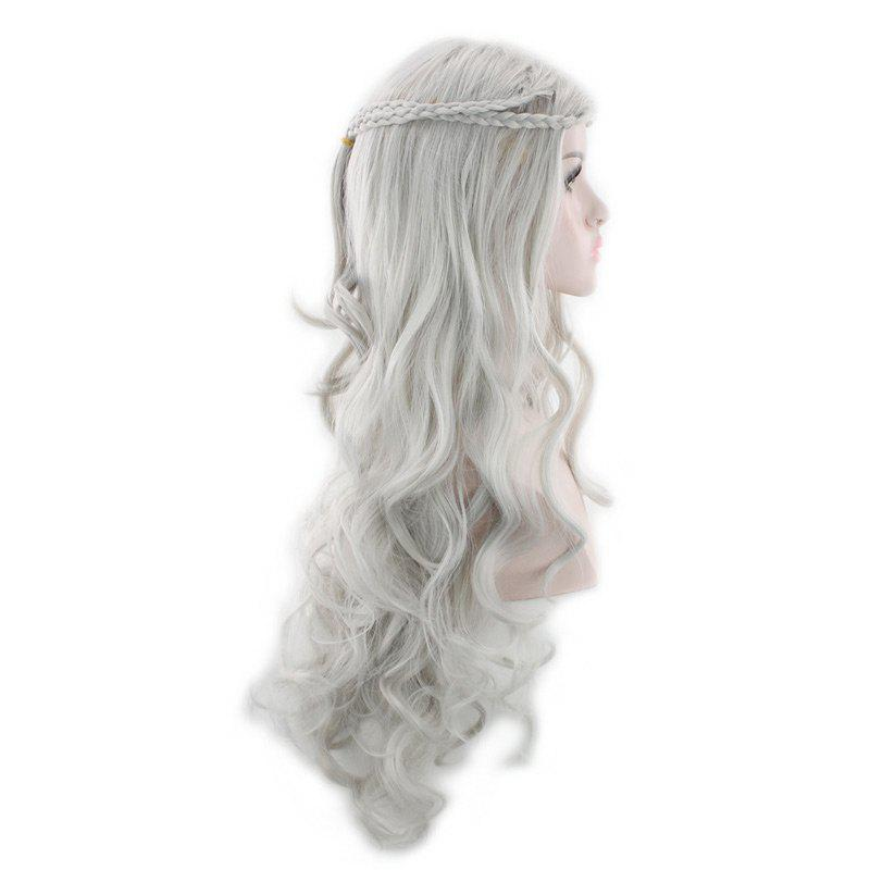 Long Braids Wavy Synthetic Cosplay Wig - FROST