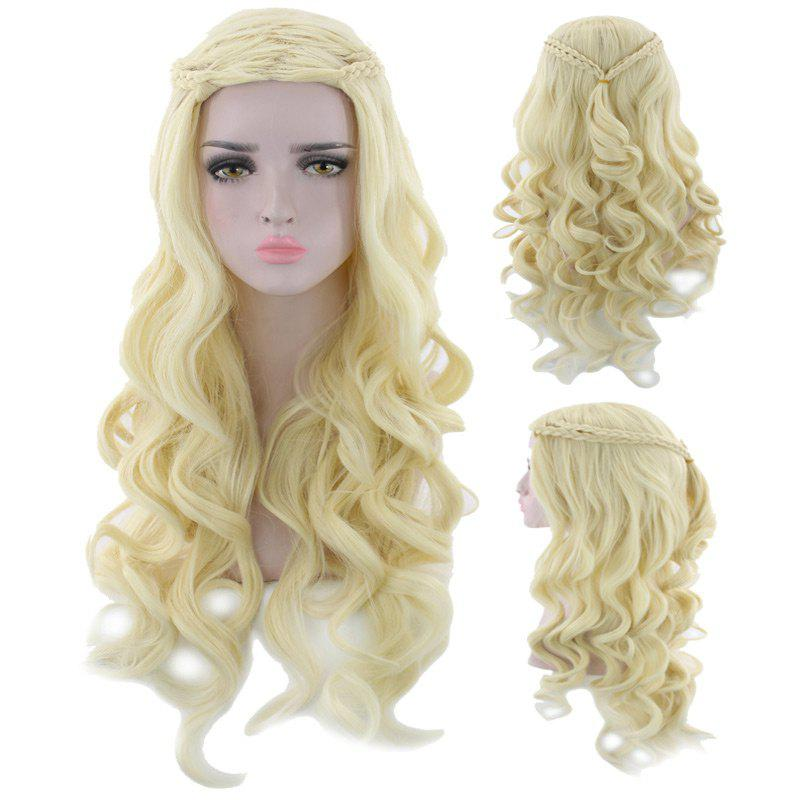 Long Braids Wavy Synthetic Cosplay Wig - SUNFLOWER