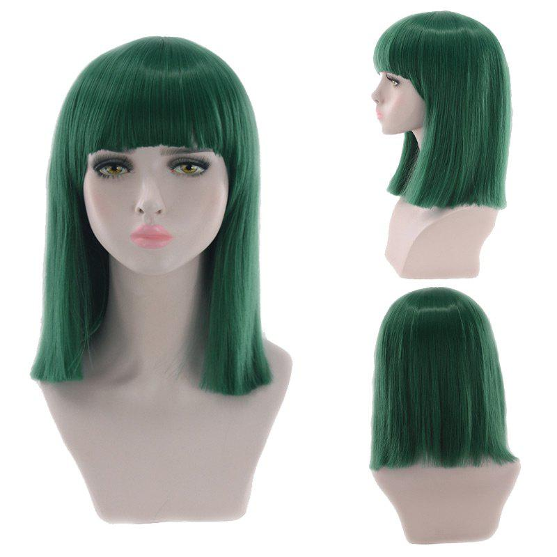 Medium Full Bang Blunt Straight Cosplay Synthetic Wig рулевая blunt intergrated headset black