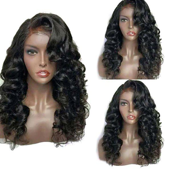 Long Deep Side Parting Fluffy Loose Wave Synthetic Lace Front Wig long middle parting fluffy body wave synthetic wig