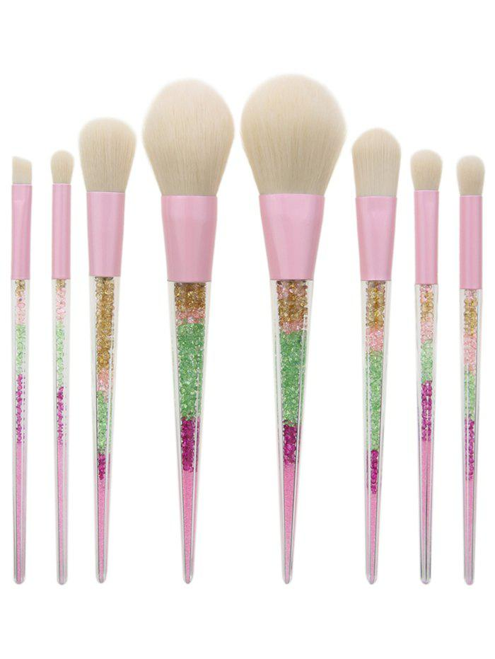 8 Pieces Glitter Powder Handle Makeup Brush Set