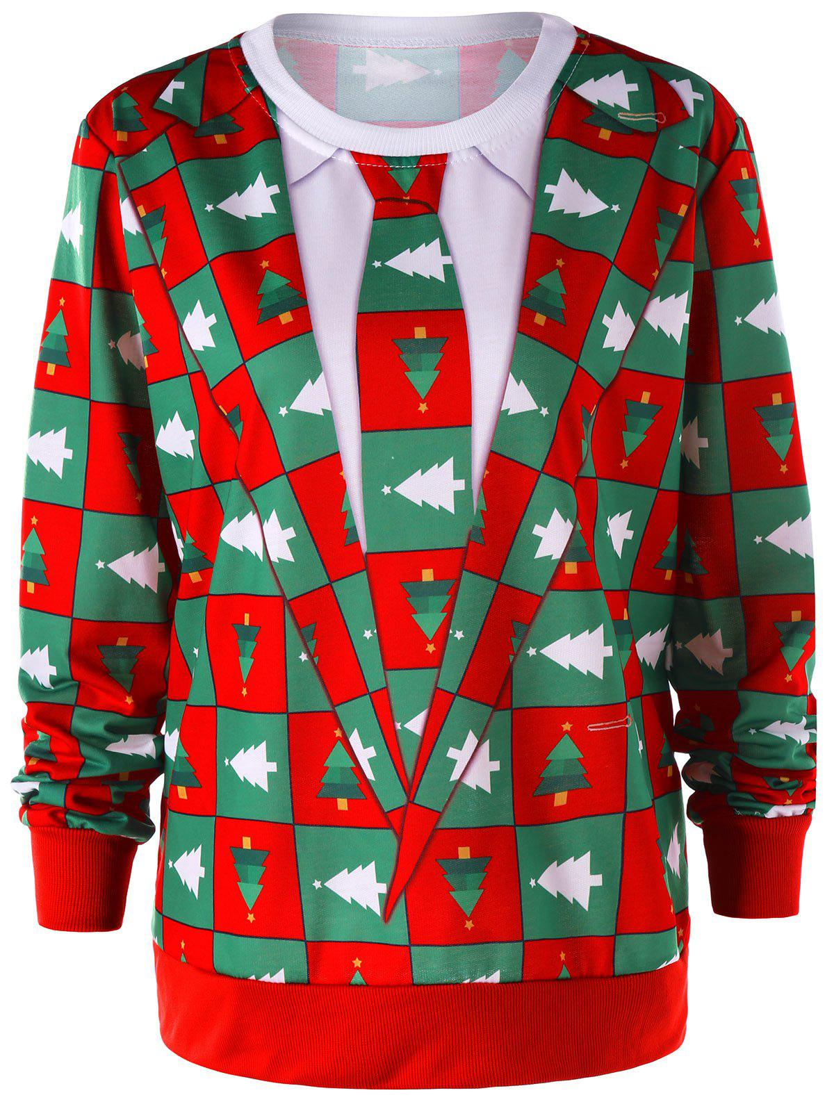 Pinetree Christmas Crew Neck Sweatshirt - COLORMIX M
