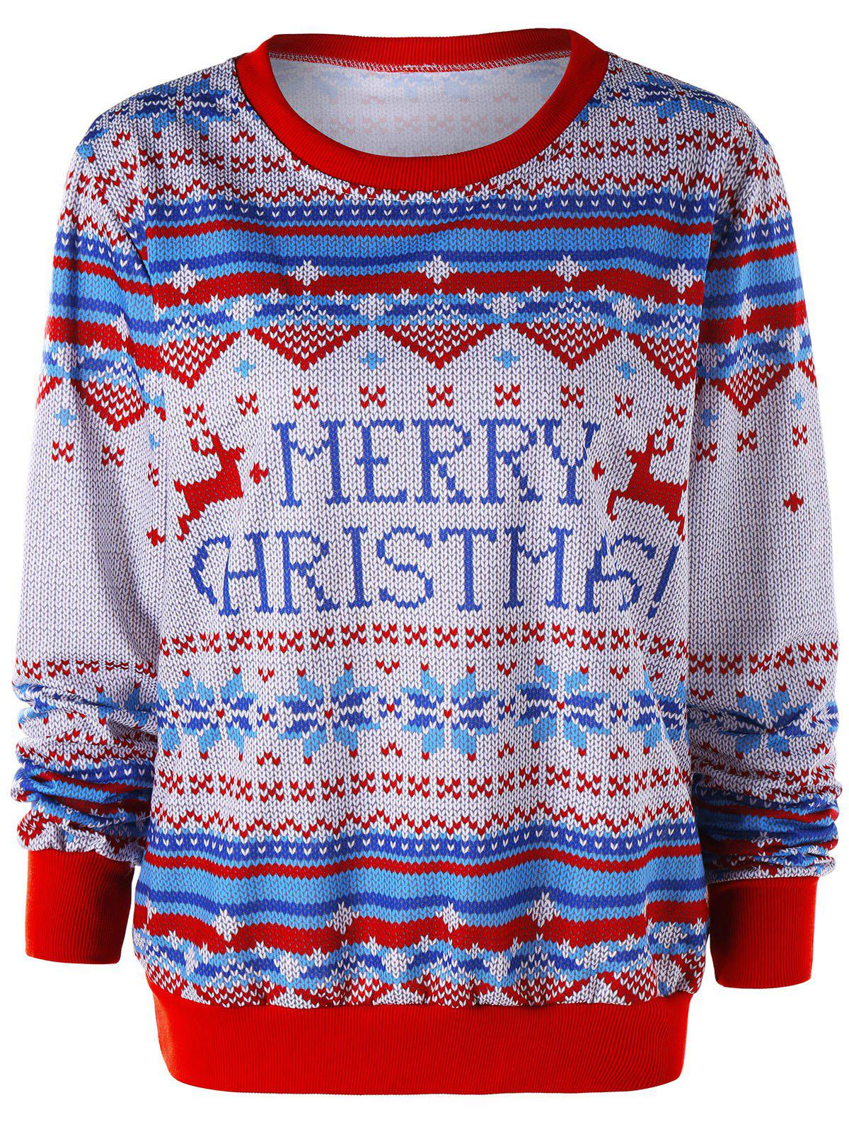 Sweat-shirt imprimé joyeux Noël - multicolore M