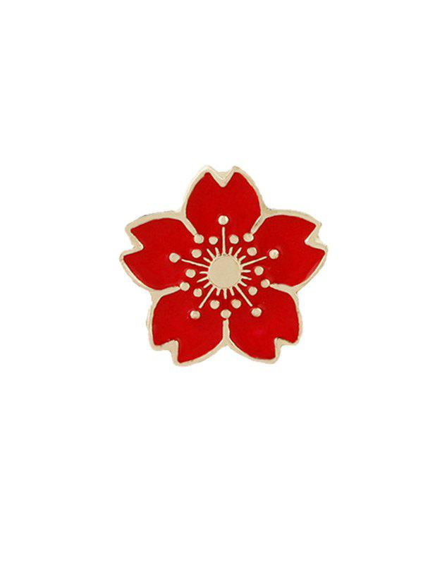 Cute Tiny Flower Brooch - RED