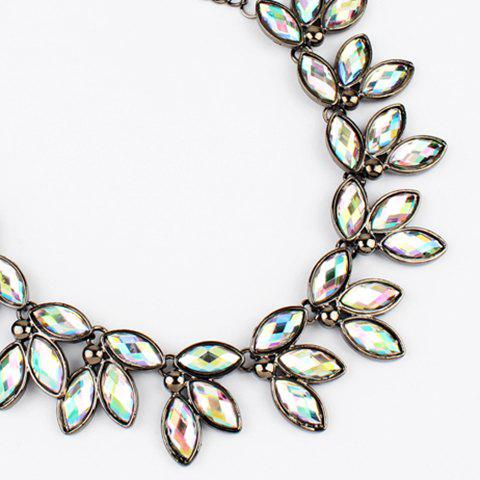 Faux Jewelry Leaves Necklace - COLORFUL