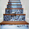 Christmas Snowscape Printed Stair Stickers - COLORMIX 100*18CM*6PCS