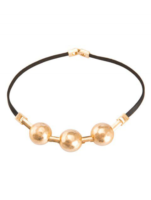 Alloy Faux Leather Choker Necklace - GOLDEN