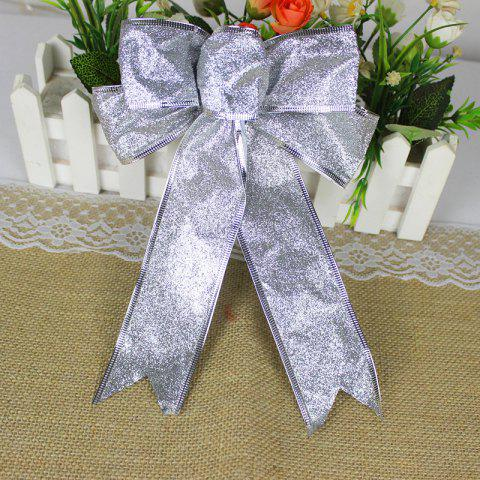 Christmas Decoration Bowknot - SILVER