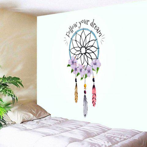 Wall Decor Dreamcatcher Lettre Tapisserie d'impression - multicolore W59 INCH * L59 INCH