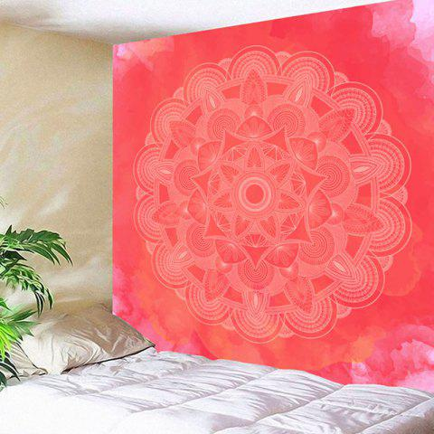 Wall Decor Mandala Flower Print Tapestry - WATERMELON RED W79 INCH * L59 INCH
