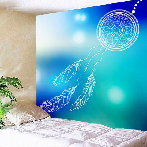 Wall Hanging Dreamcatcher Pattern Decorative Tapestry - BLUE/GREEN W71 INCH * L71 INCH