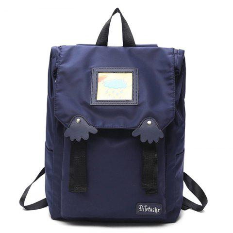 Letter Palm Cartoon Backpack - BLUE