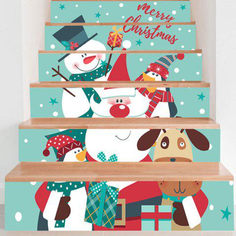 Home Decor Removable Christmas Stair Stickers - COLORMIX 100*18CM*6PCS