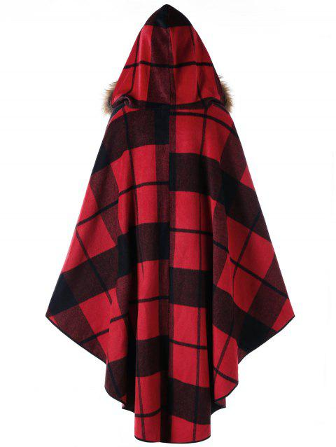 2018 cape haute basse capuche carreaux grande taille red plaid xl in vestes manteaux. Black Bedroom Furniture Sets. Home Design Ideas