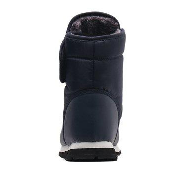 Round Toe Faux Fur Lined Ankle Boots - BLUE 38