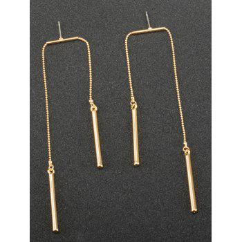 Asymmetric Chain Bar Drop Earrings -  GOLDEN