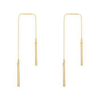 Asymmetric Chain Bar Drop Earrings - GOLDEN GOLDEN