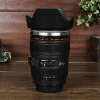 SLR Camera Lens Shape Creative Electric Stirring Coffee Cup