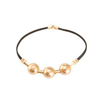 Alloy Faux Leather Choker Necklace - GOLDEN GOLDEN