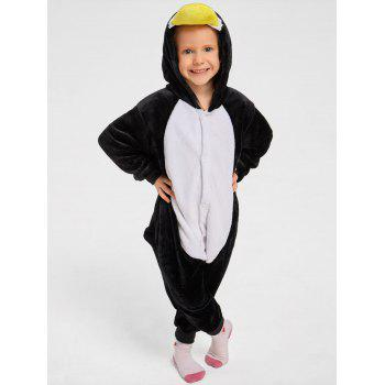 Penguin Animal Onesie Christmas Pajama for Family - BLACK DAD XL
