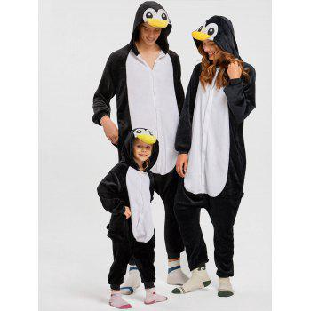 Penguin Animal Onesie Christmas Pajama for Family - BLACK KID 100
