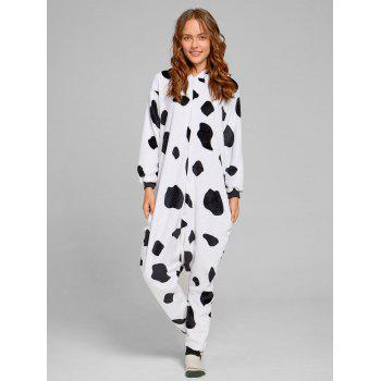 Milch Cow Matching Family Christmas Animal Onesie Pajamas - WHITE/BLACK DAD M