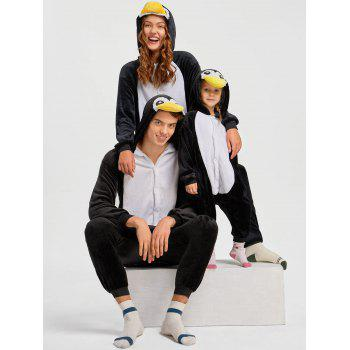 Penguin Animal Onesie Christmas Pajama for Family - BLACK BLACK