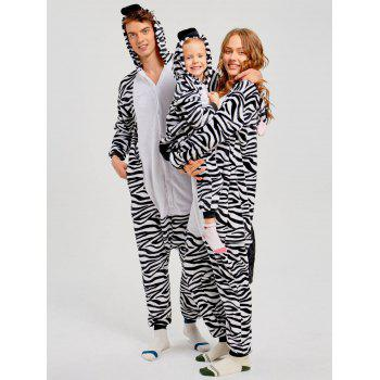 Zebra Animal Family Christmas Onesie Pajama - ZEBRA STRIPE ZEBRA STRIPE