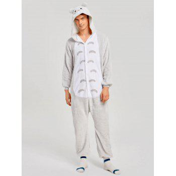 Christmas Cut Cat Animal Onesie Pajama for Family - GRAY KID 120