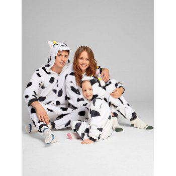 Milch Cow Matching Family Christmas Animal Onesie Pajamas - WHITE AND BLACK WHITE/BLACK