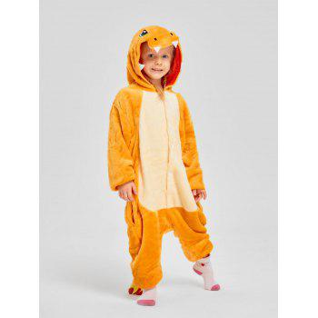 Family Christmas Fiery Dragon Animal Onesie Pajama - YELLOW DAD S
