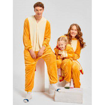 Family Christmas Fiery Dragon Animal Onesie Pajama - YELLOW MOM S