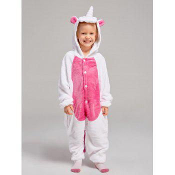 Fleece Unicorn Animal Family Onesie Pajamas - DEEP PINK DAD L