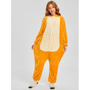 Family Christmas Fiery Dragon Animal Onesie Pajama - YELLOW MOM XL