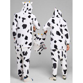 Milch Cow Matching Family Christmas Animal Onesie Pajamas - WHITE/BLACK WHITE/BLACK