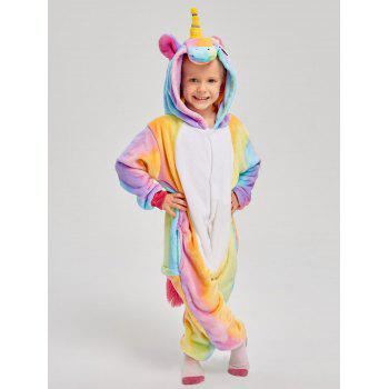 Christmas Rainbow Unicorn Animal Family Onesie Pajamas - CREAM DAD S