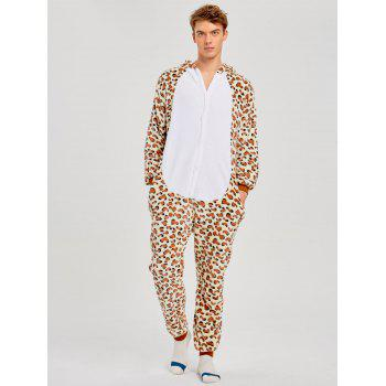 Family Leopard Printed Bear Animal  Onesie Pajamas  - LEOPARD PRINT PATTERN KID 100