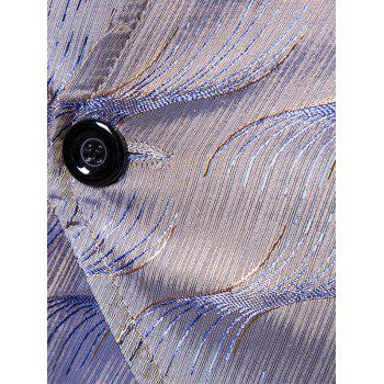 V Neck Two Button Vertigo Pattern Waistcoat - GRAY GRAY
