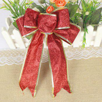 Christmas Decoration Bowknot - RED RED