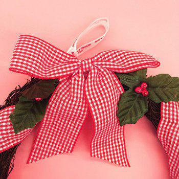 Home Decorative Bowknot Mistletoe Christmas Wreath - COLORMIX