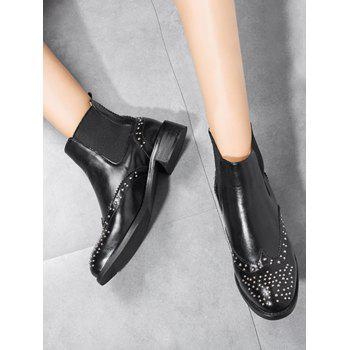 Bottines Chelsea à clous - Noir 38