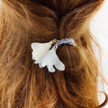 Floral Embellished Elastic Hair Bands -  WHITE